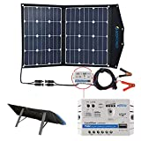 ACOPOWER 12V 70 Watt Foldable Solar Panel Kit; Portable Solar Charger Suitcase of 2x35W Monocrystalline Module & 5A Charge...