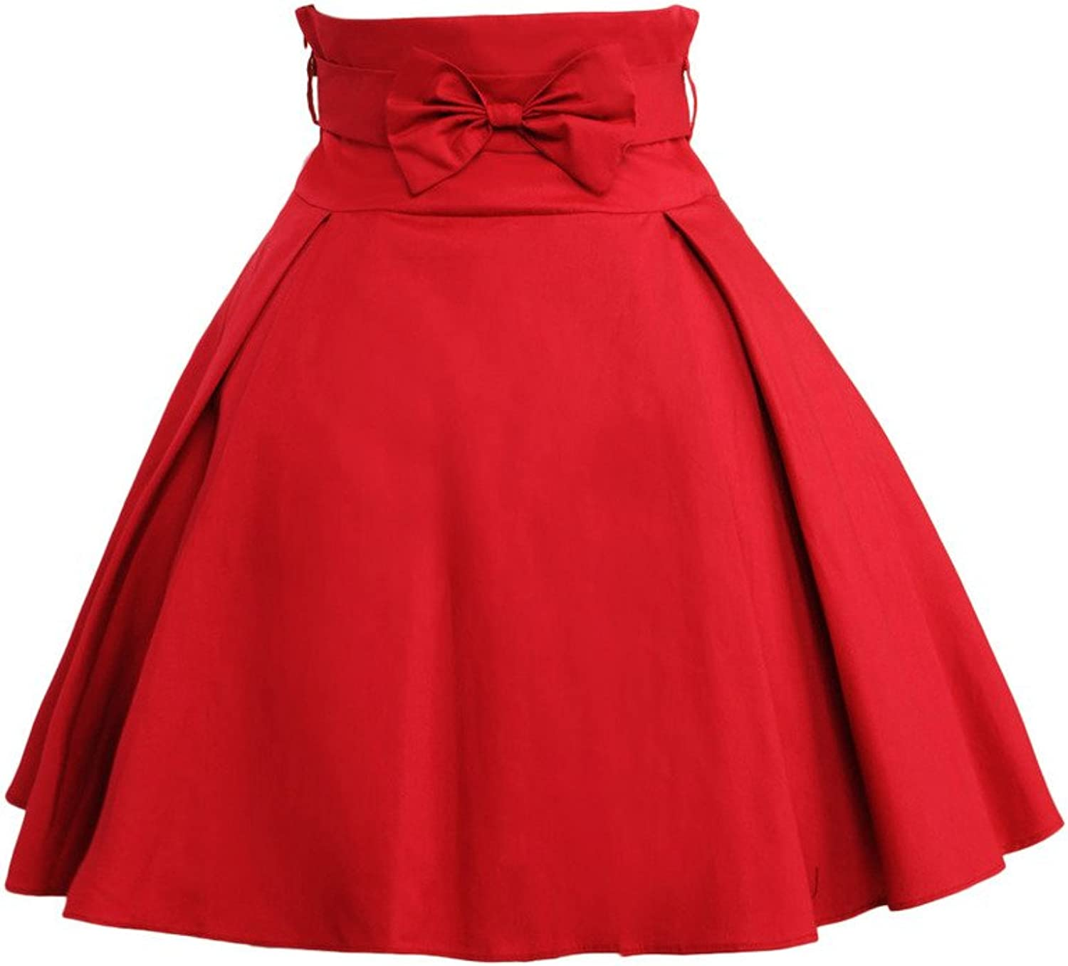 Hugme Simple Dark Red Bow Cotton Lolita Skirt