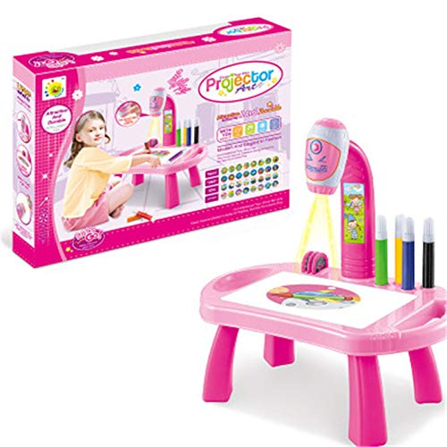 Zeichnen Doodle Board, Kinder-Lernpult mit Smart Projector, Projektor Learning Drawing Painting Set,...