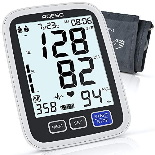 Blood Pressure Monitor Upper Arm with Large Cuff 9'-17', Accurate Automatic...