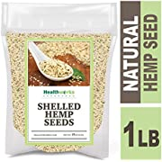 Healthworks Shelled Hemp Seeds Canadian (16 Ounces / 1 Pound) | Premium & All-Natural | Contains Omega 3 & 6, Fiber and Protein | Great with Shakes, Smoothies & Oatmeal
