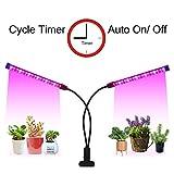 LED Grow Light Timer(3/9/12 hrs) 3 Light Mode 5 Level Dimmable Flexible Gooseneck