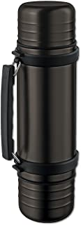 Isosteel Va-9562dqat 1.0 Liter 34 Fluid Ounce DUO Double-walled Vacuum Flask, Quickstop System - Single Hand Pouring, 2 In...