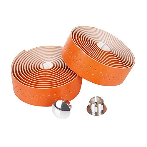 ENGG 通気 撥水 PU製レザー 滑り止めバーテープ 自転車 ロード ピスト ハンドルバーテープ