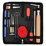 Piano Tuning Kit,YZNlife Professional 16 pcs Piano Tuner Kit Tools Including Tune Hammer Lever Felt, Mutes, Fork,Tuning Wrench,Temperament Strip, Piano Repairing Accessories