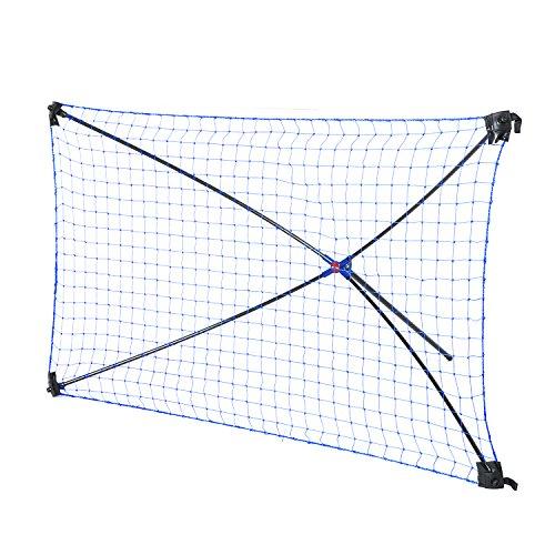 Netplayz Fußball Rebounder - Trainingsgerät für Teamsportarten - faltbar mit Tragetasche