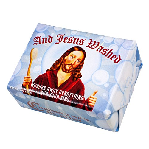 and Jesus Washed Soap - 1 Mini Bar of Soap - Made in The USA