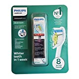 Philips DiamondClean Optimal Clean Replacement Heads, White - 8 Pack