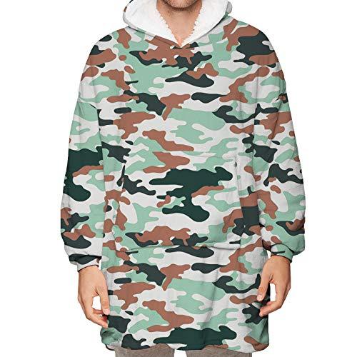 SHIQI Manta de cachemira con capucha, sudadera de suéter grande, manta suave y cálida, bolsillos enormes y frontales cómodos, tamaño universal adecuado para todos - adultos
