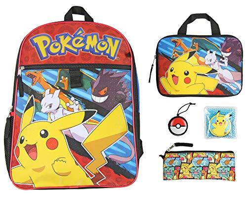 Pokemon Kids 16' Backpack 5PC Combo Set