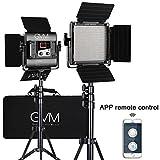 GVM 560 LED Video Light, Dimmable Bi-Color, 2 Packs Photography Lighting with APP Intelligent Control System, Lighting for YouTube, Studio, Outdoor, Video Lighting Kit, 2300K-6800K, CRI 97+