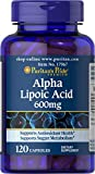 Puritans Pride Alpha Lipoic Acid 600 Mg, 120 Count