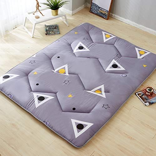 KE & LE Folding matras Tatami, 100% katoen twill afdekking katoen gewatteerde allergie gewatteerde anti-skid matras Tatami afdekking topper