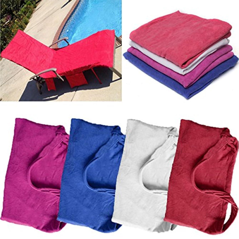 切り刻むモトリーエンディングZHENWOFAI マイクロファイバーラウンジチェアビーチタオルポケット休日日光浴速乾タオル 浴室用品 (Color : Blue)