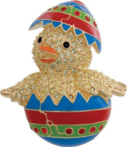 Swarovski Crystal Easter Chick Brooch/Ladies Jewellery Gift
