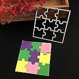 ECMQS Puzzle Stanzmaschine Stanzschablone, Scrapbooking Prägeschablonen Stanzformen...