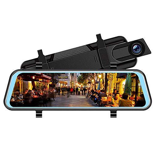 10-Zoll-Bildschirm Autospiegel 1080p Fahrrekorder Dual-Objektiv-Autokamera Vollbild Touch 2.5d HD Matt Nachtsichtrekorder Flow Rückspiegel