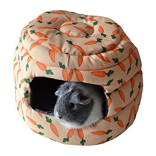 Rosewood 19613 Snuggles 2 In 1 Karotten-Bienenkorb Kuschelbett Für Kaninchen, Meerschweinchen, Frettchen Und Ratten
