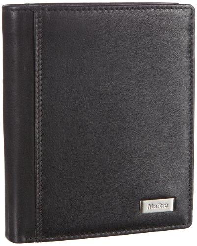 Maitre Herren Fusto Hamlet BillFold V10 Geldbörsen, Schwarz (black), 10x13x1 cm