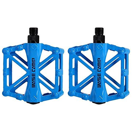 zjchao Pedales para Bici BMX Bicicleta de montaña MTB Ciclismo de Carreras Ultraligero Pedal de aleación (Azul)