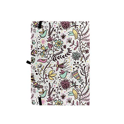 A5 Floral Punteado Cuaderno Dot Grid Journal Funda Diferente Planificador de Viaje Diario Regalo Portátil Pequeño Diario Cuaderno de Durabilidad para más