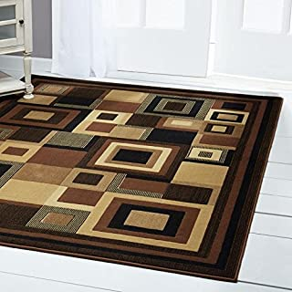 Home Dynamix Catalina Virginia Abstract Runner Rug, Geometric Black/Brown 7'10