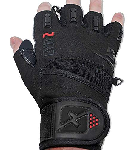 skott Evo 2 Weightlifting Gloves with Integrated Wrist Wrap Support-Double Stitching for Extra Durability-Get Ripped with The Best Body Building Fitness and Exercise Accessories