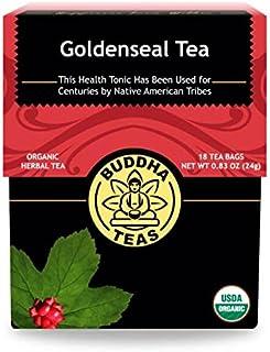 Organic Goldenseal Tea, 18 Bleach-Free Tea Bags – Caffeine Free Herbal Tea, Contains Antioxidants and Essential Vitamins a...