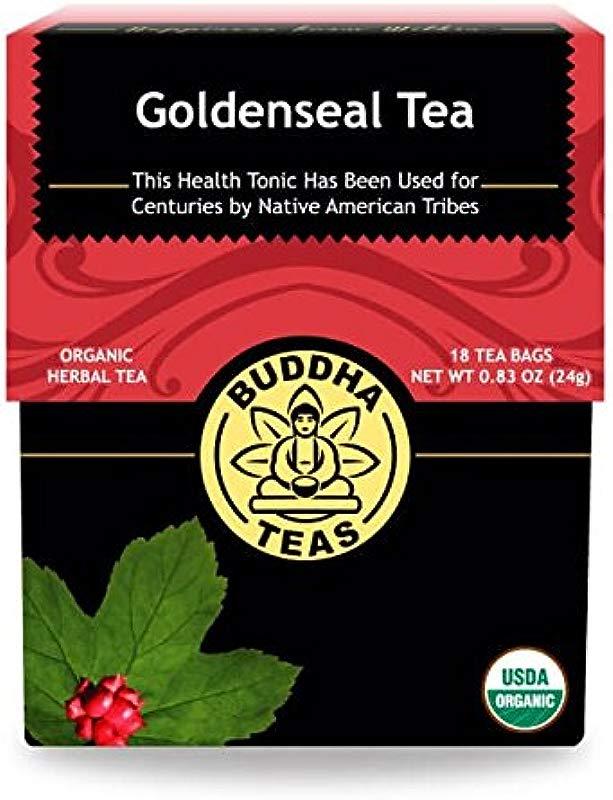 Organic Goldenseal Tea 18 Bleach Free Tea Bags Caffeine Free Herbal Tea Contains Antioxidants And Essential Vitamins And Minerals No GMOs