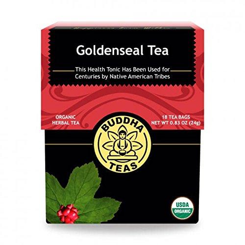 Organic Goldenseal Tea, 18 Bleach-Free Tea Bags – Caffeine Free Herbal Tea, Contains Antioxidants and Essential Vitamins and Minerals, No GMOs