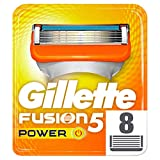 Gillette Fusion 5 Power Lamette di Ricarica per Rasoio da Uomo, Confezione da 8 Lamette di Ricambio