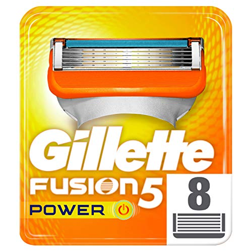 Gillette Fusion 5 Power - Cuchillas de recambio para afeitadora de hombre, 8 unidades