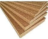 FUTURAZeta - Sughero Biondo naturale (5 pannelli) Qualità Superiore, spessore 2 cm. densità maggiorata, isolamento umidità,termico e acustico.