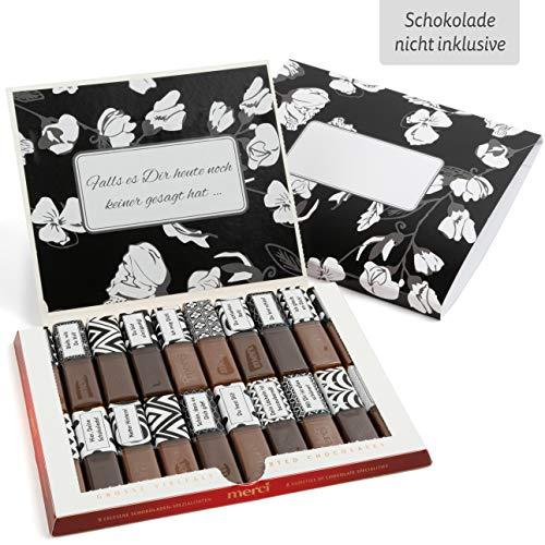 Netti Li Jae ® Aufkleberset für Merci-Schokolade: Das persönliche Dankeschön & kreative Premium Geschenk für einen besonderen Menschen: persönlich & unvergesslich (Komplimente)