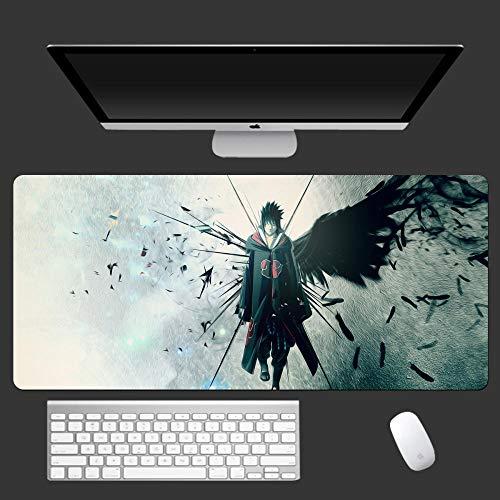 Grande 800X300X3mm XL,Anime Naruto-E Alfombrilla de ratón de Oficina Alfombra para ratón Gaming Teclado Ordenador Anime cojín para el Escritorio para Tablet Ordenador portátil-A_40cm*90cm*0.3