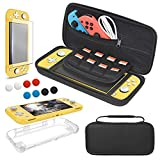 4-In-1 Accessories Kit for Nintendo Switch Lite: This 4-in-1 pack contains carrying case, tpu case, tempered glass screen protector and thumb grip caps providing full protection for your Nintendo Switch Lite. It would be a nice gift for Switch Lite g...