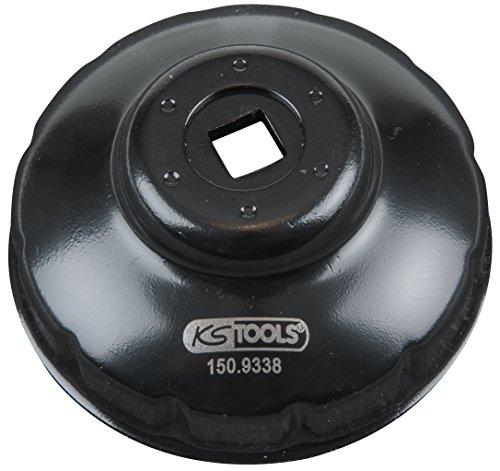 KS Tools 150.9338 Clé 12 Pans Pour Filtre À Huile 76 Mm - Pour Le Montage Et Démontage Rapide Des Couvercles