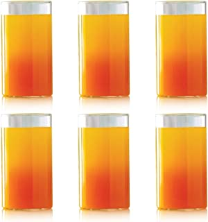 Borosil VCL350 Vision Classic [Set of 6] Premium Clear Lightweight & Durable Drinkware, Odor Resistant, Dishwasher Safe - For Water, Juice, Beer, Wine, and Cocktails,     12 Ounce Cups, Glass
