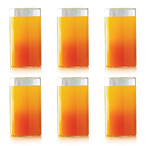 Borosil Vision Glass Set, 350ml, Set of 6, Transparent