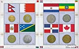 Prophila Collection Naciones Unidas - Nuevo York 1294-1301 Sheetlet (Completa.edición.) 2012 Banderas y Monedas (Sellos para los coleccionistas) Monedas y Billetes en Sello