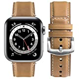 Cinturino Apple Watch 44mm/42mm/40mm/38mm, Fullmosa Yola Cinturini in Pelle Compatibile con Apple Watch Serie 6 5 4 3 2 7, Apple Watch SE, per Uomo e Donna