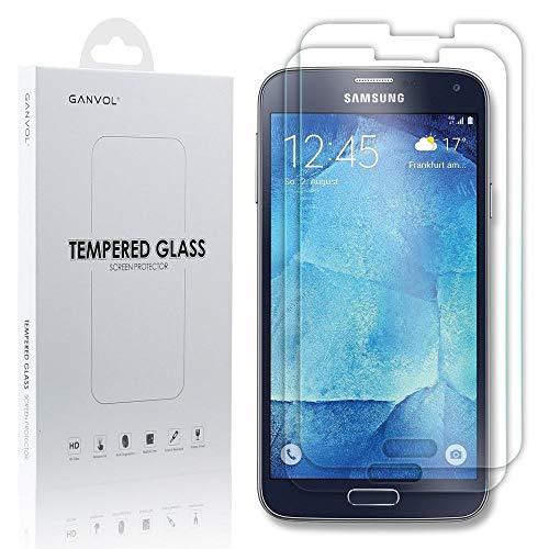 Ganvol 2er Set Panzerglas Panzerfolie für Samsung Galaxy S5 / S5 Neo / S5 SIM-Free / S5 Duos SM-G903FZKADBT / SM-G900FZKADBT + Kurzer Kabelbinder