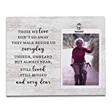 Memorial Gifts, Wood Picture Frame Holds 4 X 6 Photo, Sympathy Gifts, In Memory of Loved One, Bereavement Gifts, Remembrance Gifts, Condolence Gifts, Those We Love Don't Go Away