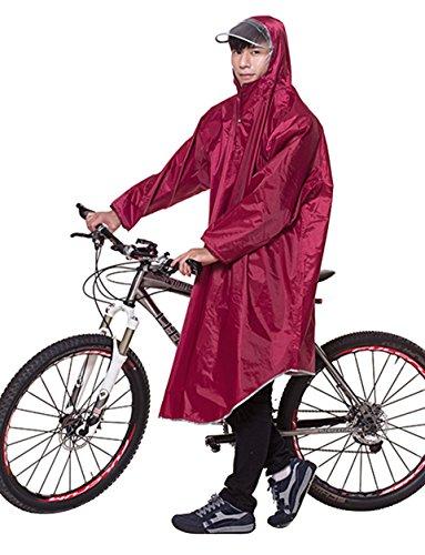 Icegrey Bike Fahrrad Regenjacken Regenponcho Wasserdicht Regenmantel für Die Jagd Camping Freizeit Regenmäntel Regencape 3XL Weinrot