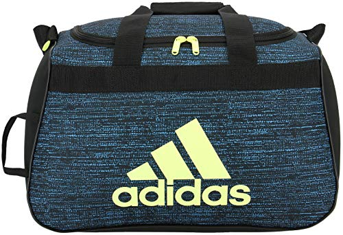adidas Unisex Diablo Small Duffel Bag, Bright Cyan Subdued/Black/Frozen Yellow, ONE SIZE