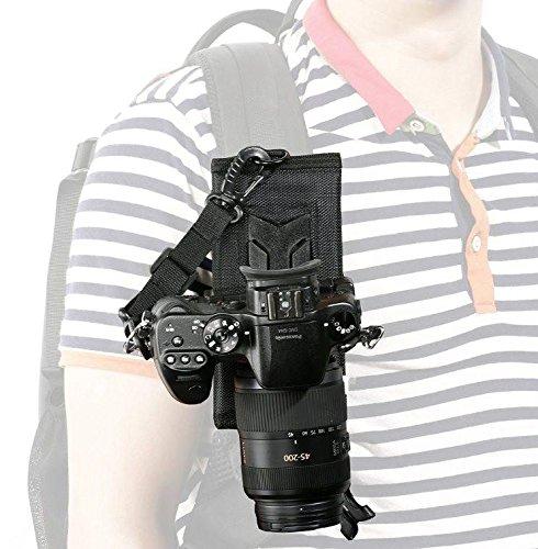 Sistema di supporto universale in stile fondina Movo Photo MB200 per trasporto della fotocamera con fissaggio allo zaino