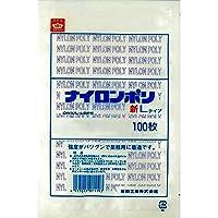 ナイロンポリ 新Lタイプ規格袋 No.12 (100枚) 巾180×長さ300㎜