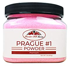 Contains 1 lb of Prague Powder No1 Pink Curing Salt Also referred to as Tinted Cure or Pink Curing Salt A critical component in the meat curing and sausage making process Enough to cure 100 lbs of meat Hoosier Hill Farm brand your satisfaction is gua...