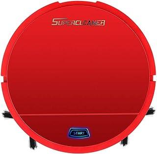 Abilieauty Auto Limpieza Robot Inteligente Barrido Aspiradora Suelo Suciedad Polvo Cabello Clean para Hogar - Rojo
