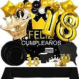 Fiesta Cotigo Pack de Artículos para Fiesta Cumpleaños Número 18-Decoración de Globos...